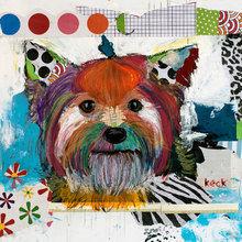 Картина (репродукция, постер): Dog №4 - Майкл Кек