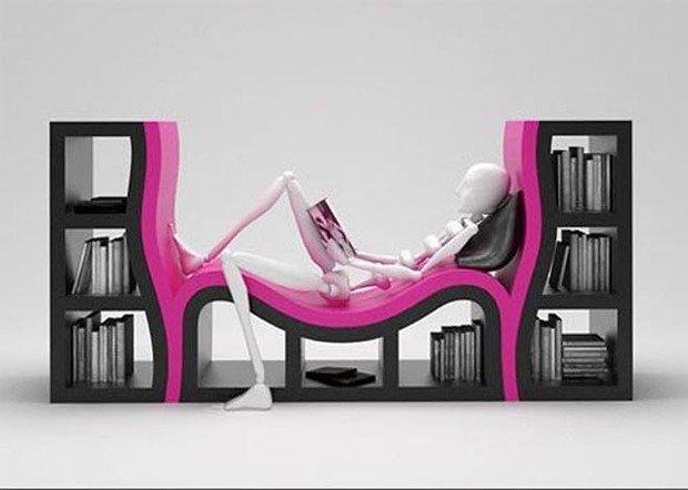 Фотография: Прочее в стиле , Системы хранения, Библиотека, Домашняя библиотека – фото на InMyRoom.ru