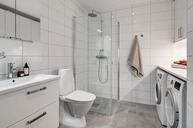 Фотография: Ванная в стиле Скандинавский, Декор интерьера, Квартира, Белый, Минимализм, Бежевый, до 40 метров – фото на INMYROOM