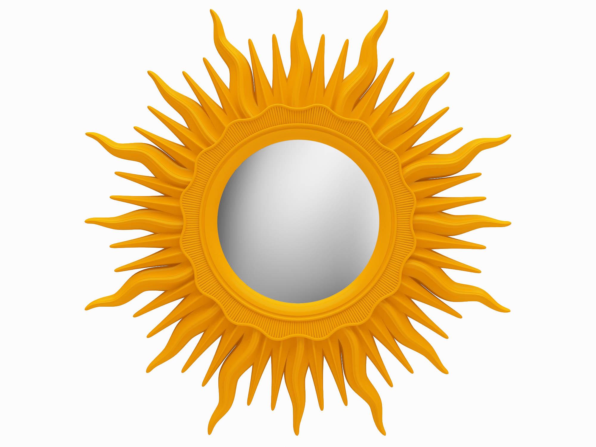 Купить Настенное зеркало в рамах в виде солнца, inmyroom, Россия
