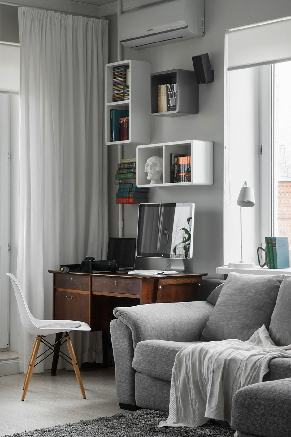 Фотография: Гостиная в стиле Современный, Малогабаритная квартира, Квартира, Дома и квартиры, IKEA, Проект недели, Хрущевка – фото на InMyRoom.ru