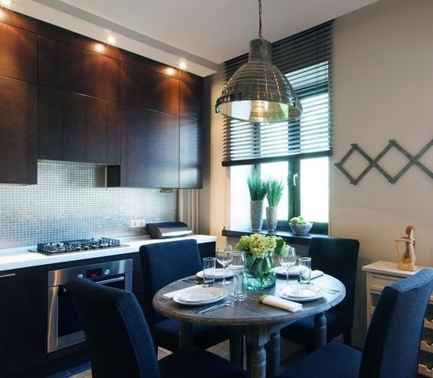 Фотография: Кухня и столовая в стиле Лофт, Декор интерьера, Малогабаритная квартира, Квартира, Дома и квартиры – фото на InMyRoom.ru