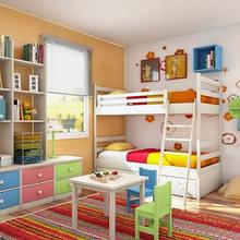 Фотография: Детская в стиле Современный, Декор интерьера, Интерьер комнат, Цвет в интерьере – фото на InMyRoom.ru