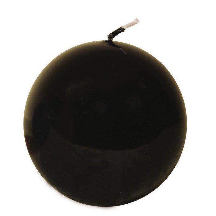 Свеча шар черная