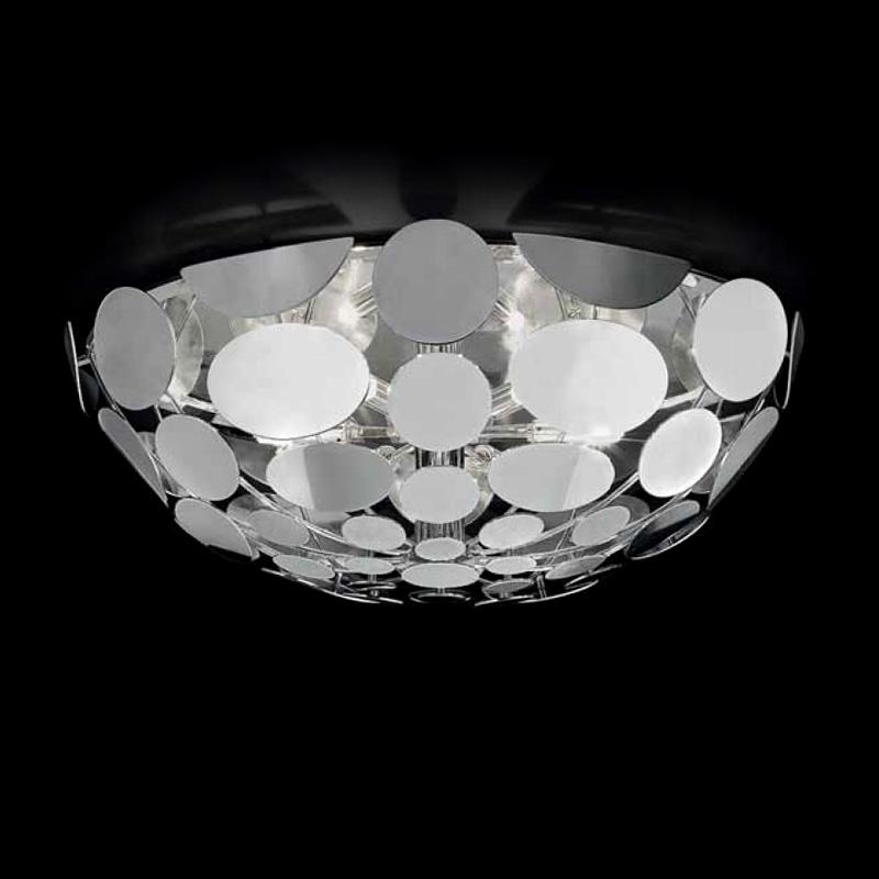 Купить Потолочный светильник Lamp di Volpato Patrizia Sfera с плафоном в виде полушара из металлических дисков, inmyroom, Италия