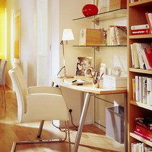 Фотография: Кабинет в стиле Современный, Гостиная, Интерьер комнат, Переделка, Ремонт – фото на InMyRoom.ru