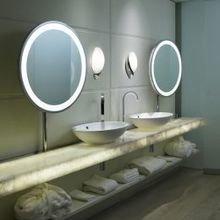 Фотография: Ванная в стиле Современный, Минимализм, Интерьер комнат, Светильник, Зеркало, Подсветка – фото на InMyRoom.ru