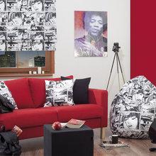 Фотография: Гостиная в стиле Современный, Квартира, Дома и квартиры, Поп-арт – фото на InMyRoom.ru
