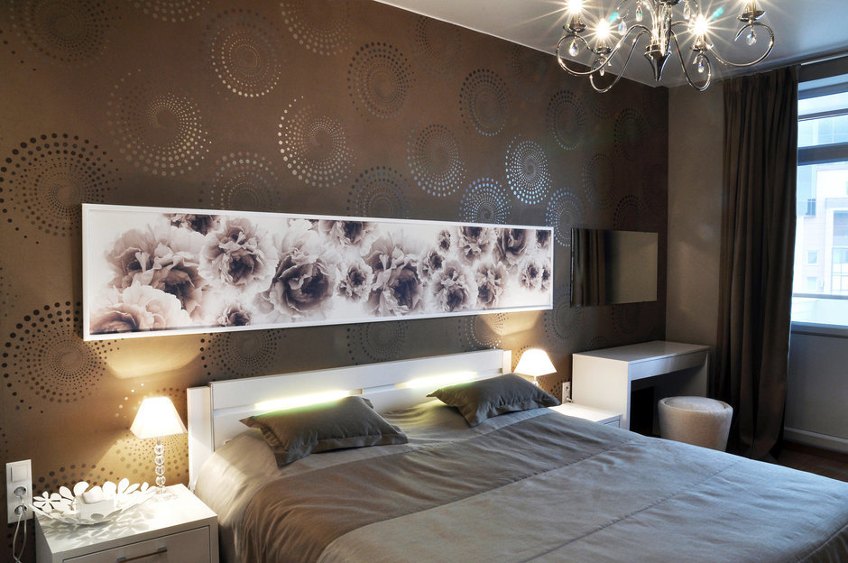 Фотография: Спальня в стиле Эклектика, Малогабаритная квартира, Квартира, Цвет в интерьере, Дома и квартиры, Белый, Переделка – фото на InMyRoom.ru