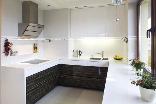 Фотография: Кухня и столовая в стиле Современный, Малогабаритная квартира, Квартира, Освещение, Декор, Дома и квартиры – фото на InMyRoom.ru