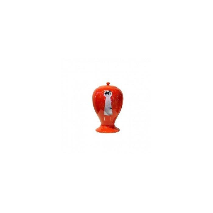 Декоративная ваза с крышкой Serratura Red Mini