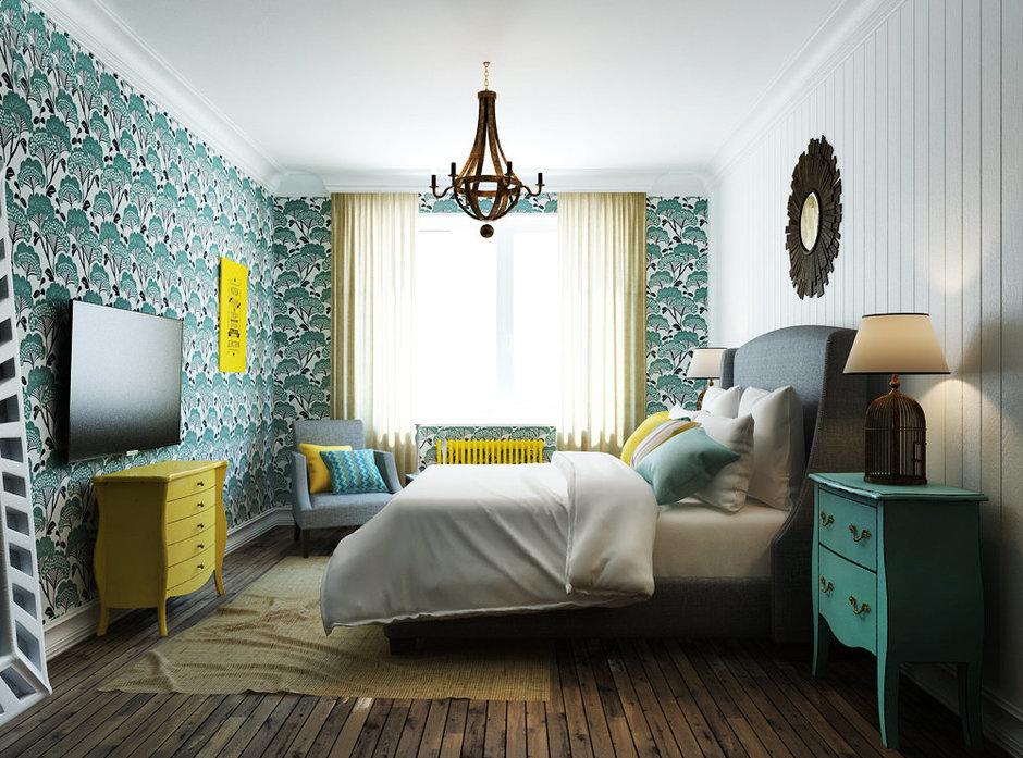 Фотография: Спальня в стиле Прованс и Кантри, Эклектика, Квартира, Проект недели, Эко – фото на InMyRoom.ru
