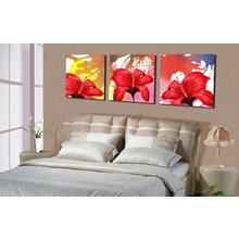 Декоративная картина на холсте: Красные лилии