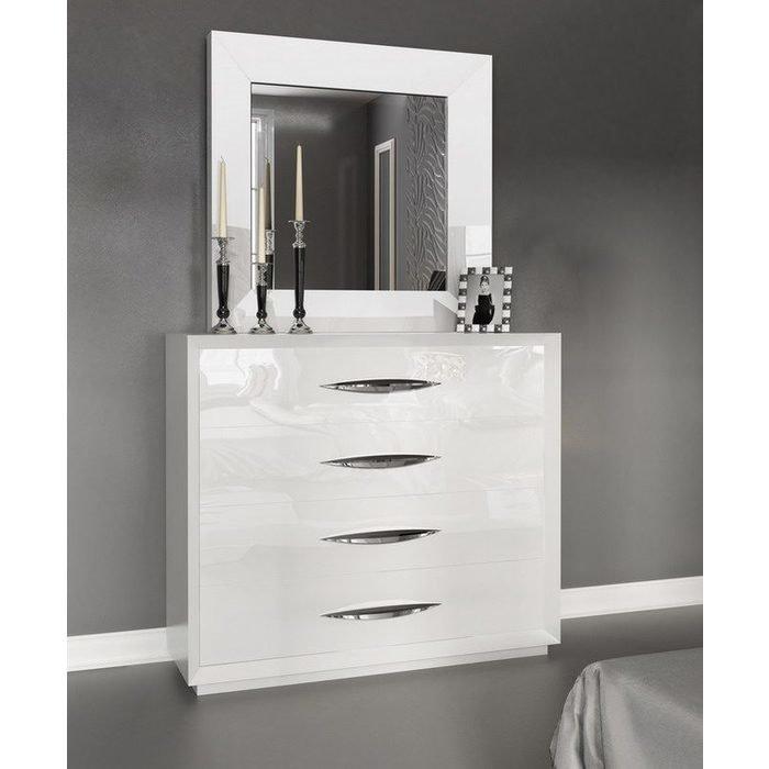 Настенное Зеркало FRANCO CARMEN белое
