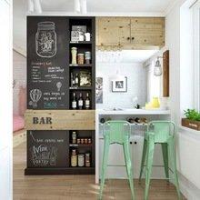 Фотография: Кухня и столовая в стиле Скандинавский, Минимализм, Современный, Малогабаритная квартира, Квартира, Мебель и свет, дизайн маленькой кухни, как обустроить маленькую кухню, идеи для маленькой кухни, kuhnya-8-kv-metrov – фото на InMyRoom.ru
