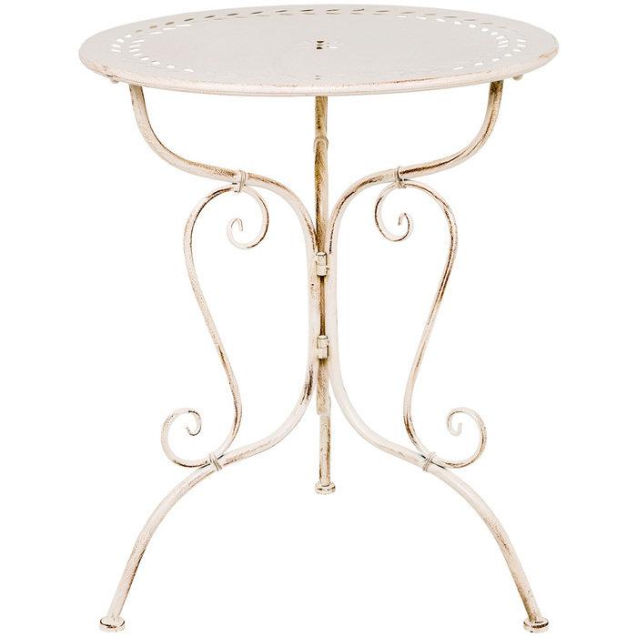Столик для завтрака Жарден белый антик