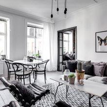 Фото из портфолио Монохромный интерьер на 57 квадратах в Швеции – фотографии дизайна интерьеров на InMyRoom.ru