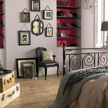 Фотография: Спальня в стиле , Декор интерьера, Дизайн интерьера, Цвет в интерьере, Красный, Dulux, Розовый – фото на InMyRoom.ru