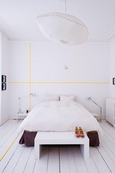 Фотография: Спальня в стиле Скандинавский, Декор интерьера, Декор дома, Цвет в интерьере, Обои – фото на InMyRoom.ru