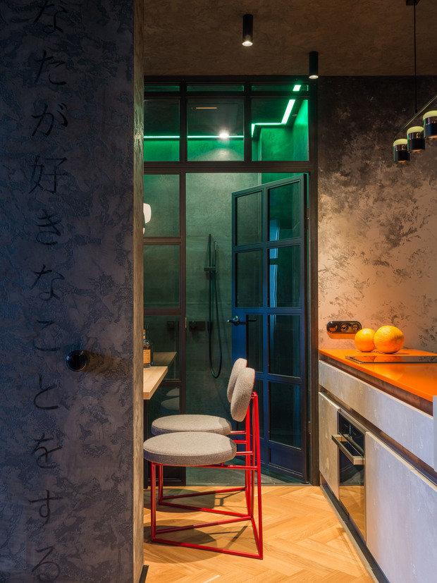 Фотография: Кухня и столовая в стиле Лофт, Квартира, Проект недели, Нижний Новгород, 3 комнаты, 60-90 метров, Евгений Аполонов – фото на INMYROOM