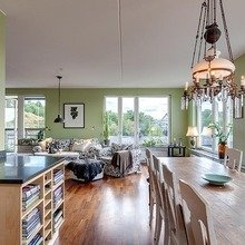 Фотография: Кухня и столовая в стиле Скандинавский, Классический, Декор интерьера, Дизайн интерьера, Терраса, Цвет в интерьере, Стокгольм – фото на InMyRoom.ru