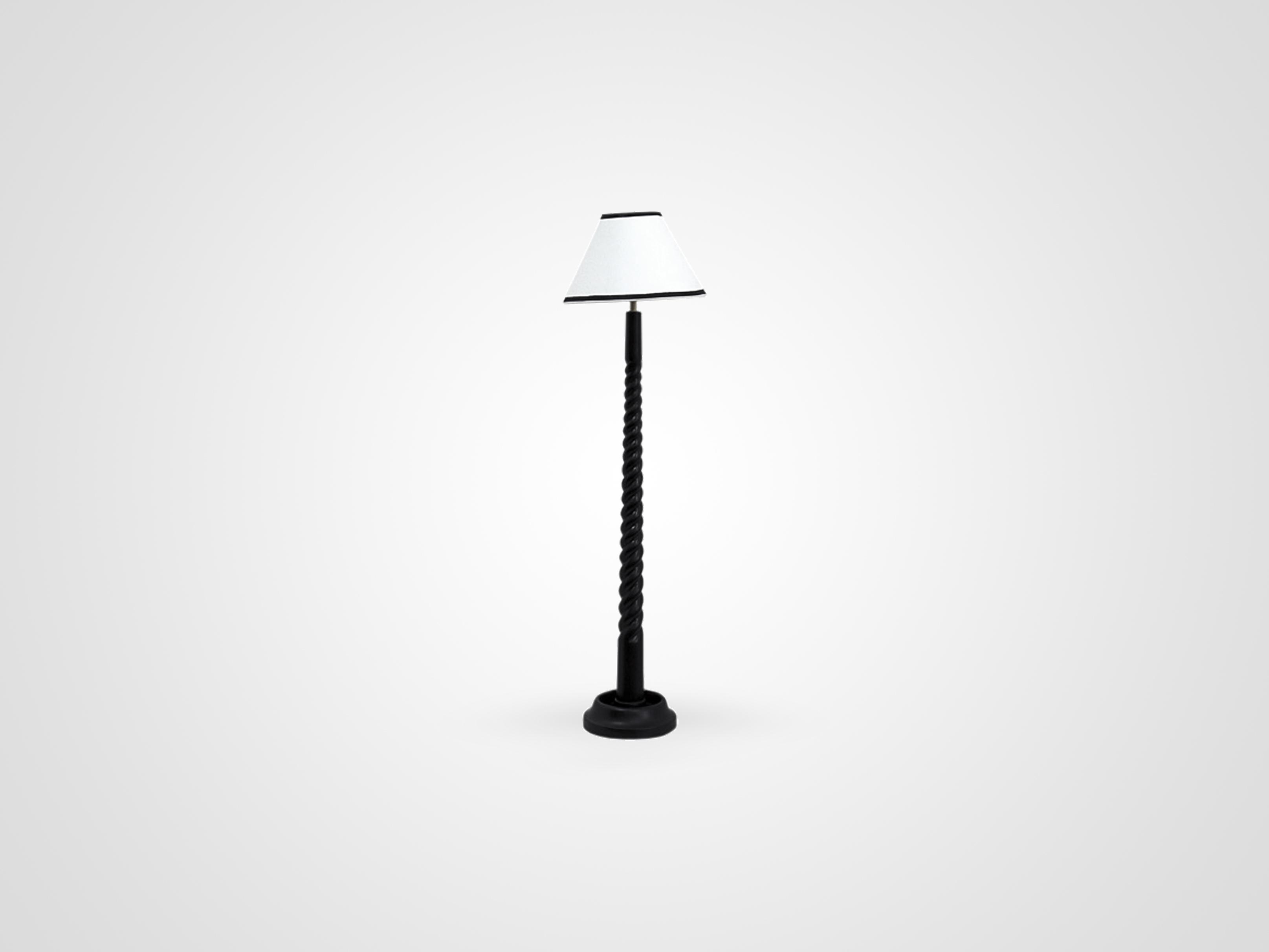 Настольная лампа с белым абажуром, inmyroom, Индонезия  - Купить