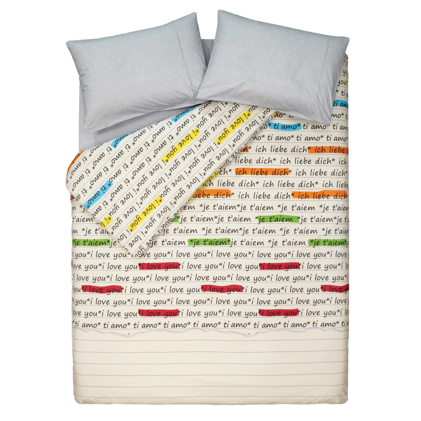 Купить Комплект постельного белья Love Grey Family, inmyroom, Турция