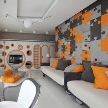 Фотография: Гостиная в стиле Хай-тек, Квартира, Дома и квартиры – фото на InMyRoom.ru