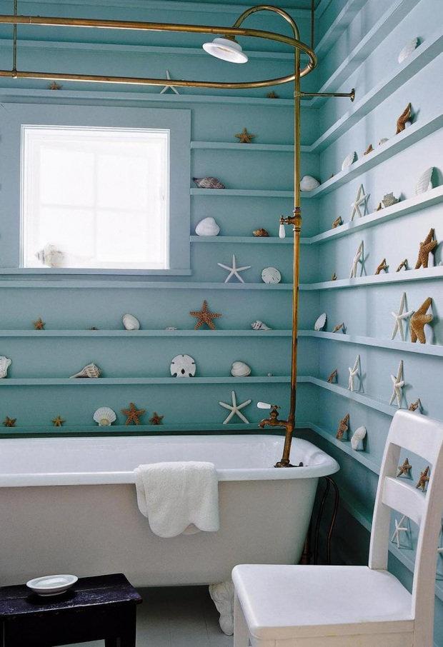 Фотография: Ванная в стиле Прованс и Кантри, Гостиная, Квартира, Декор, Советы, морской стиль в интерьере, Леруа Мерлен, Leroy Merlin – фото на INMYROOM