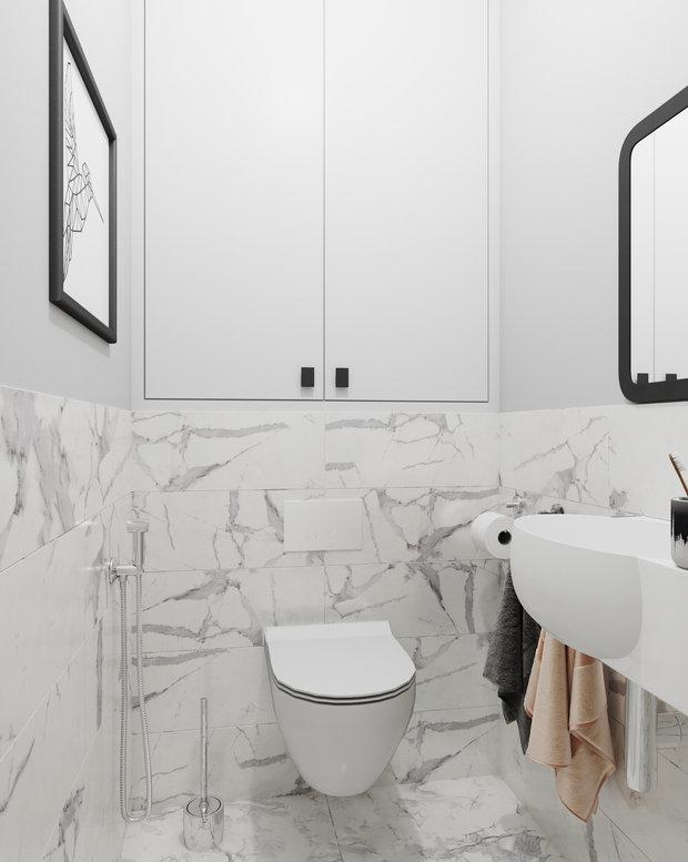 Фотография: Ванная в стиле Современный, Квартира, Проект недели, Даша Ухлинова, Зеленоград, ГМС-1, 2 комнаты, 40-60 метров – фото на INMYROOM