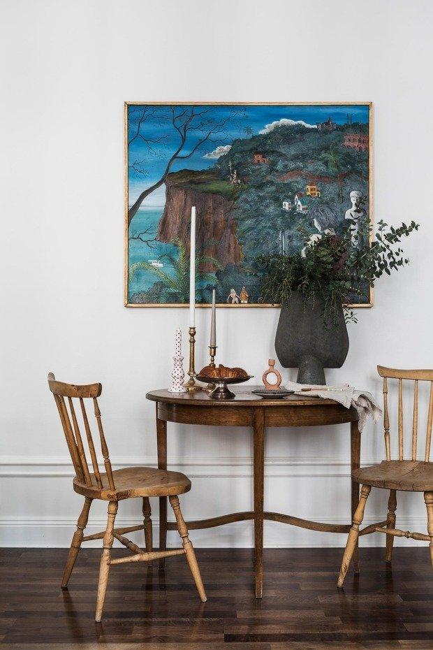 Фотография: Кухня и столовая в стиле Прованс и Кантри, Скандинавский, Эклектика, Декор интерьера, Малогабаритная квартира, Квартира, Швеция, Стокгольм, как оформить малогабаритку, как самостоятельно оформить интерьер, 2 комнаты, до 40 метров – фото на INMYROOM