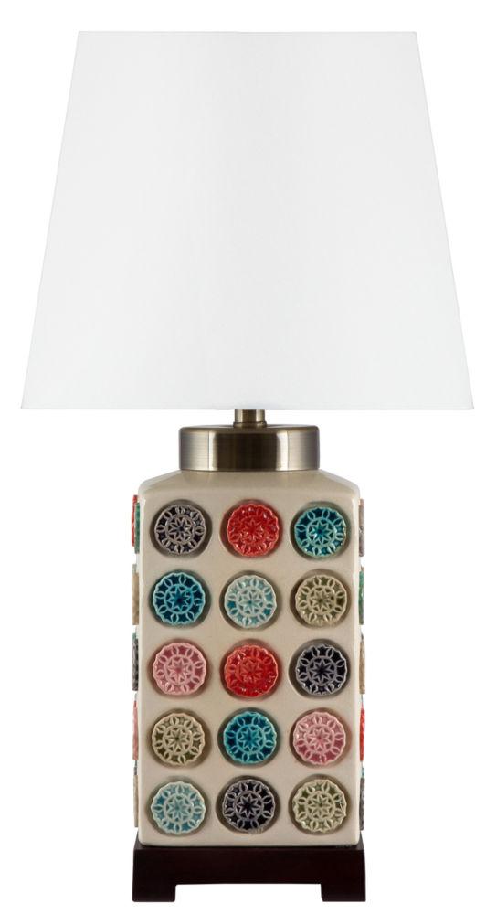 Купить Лампа настольная керамическая с белым абажуром, inmyroom