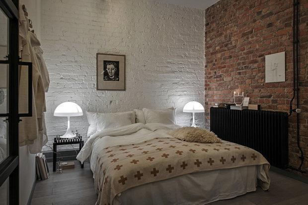 Фотография: Спальня в стиле Лофт, Декор интерьера, Квартира, 2 комнаты, 40-60 метров – фото на INMYROOM