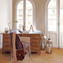 Фотография: Кабинет в стиле Кантри, Квартира, Цвет в интерьере, Дома и квартиры, Бежевый – фото на InMyRoom.ru