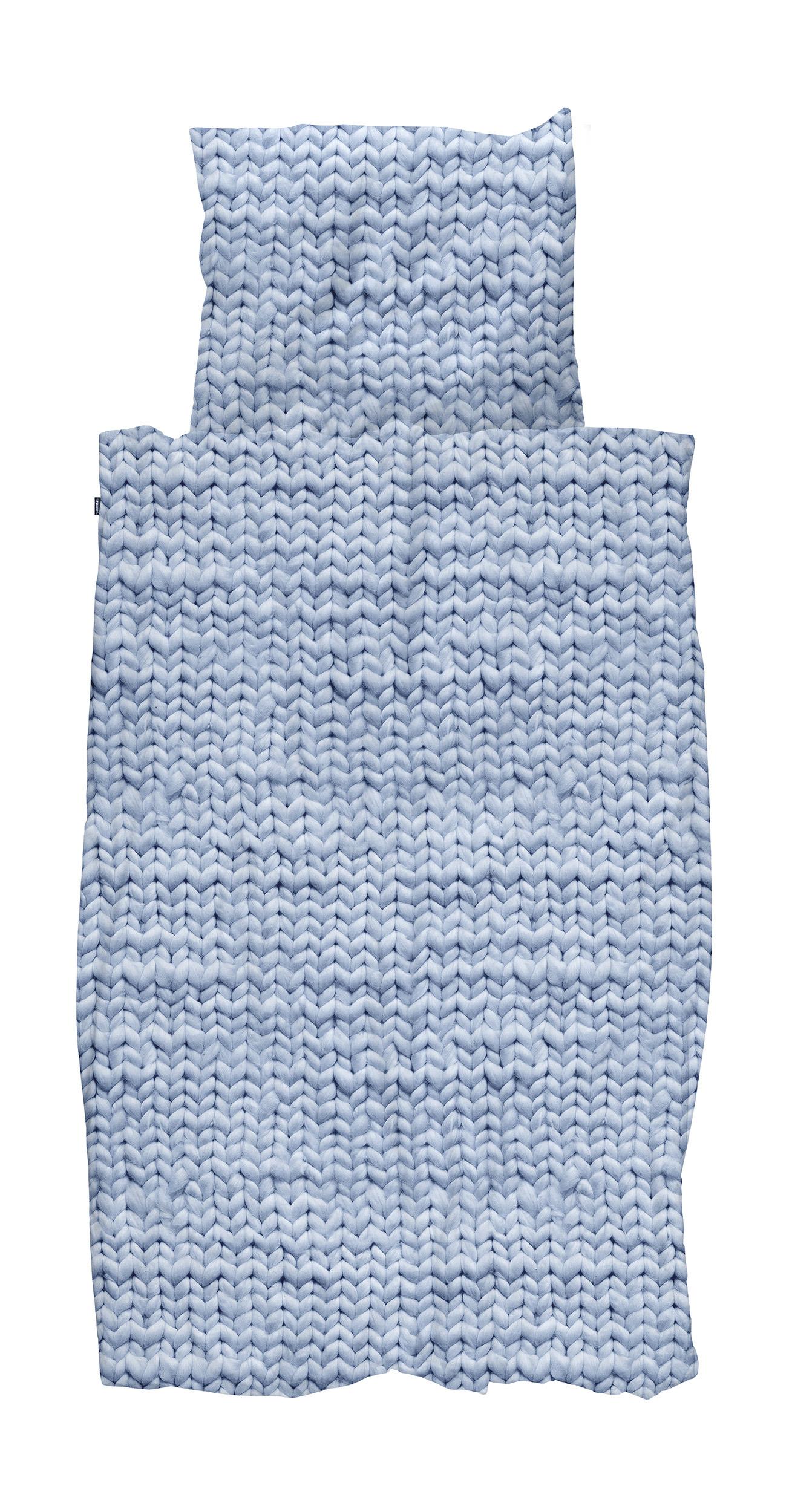 Купить Комплект постельного белья Косичка 150х200 синий фланель, inmyroom, Нидерланды
