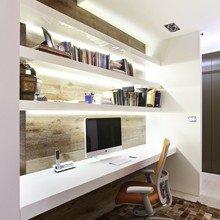 Фотография: Кабинет в стиле Современный, Эко, Интерьер комнат, Системы хранения – фото на InMyRoom.ru