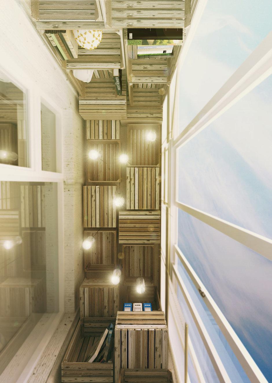 Фотография: Балкон, Терраса в стиле Лофт, Интерьер комнат – фото на InMyRoom.ru
