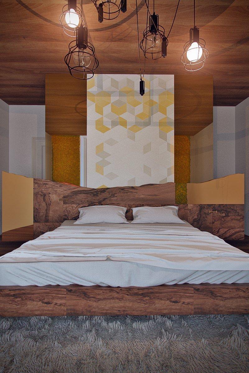 Фотография: Спальня в стиле Лофт, Эклектика, Дом, Минимализм, Проект недели, Эко – фото на InMyRoom.ru
