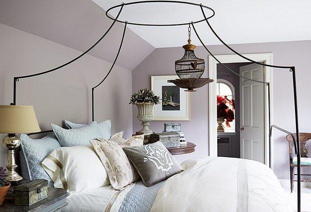 Фотография: Спальня в стиле Прованс и Кантри, Декор интерьера, Аксессуары, Декор, Белый, Черный, Желтый, Серый, Бирюзовый – фото на InMyRoom.ru
