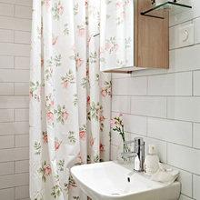 Фотография: Ванная в стиле Кантри, Скандинавский, Малогабаритная квартира, Квартира, Швеция, Цвет в интерьере, Дома и квартиры, Белый, IKEA, Бежевый – фото на InMyRoom.ru