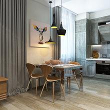 Фотография: Кухня и столовая в стиле Лофт, Эклектика, Квартира, Минимализм, Проект недели – фото на InMyRoom.ru