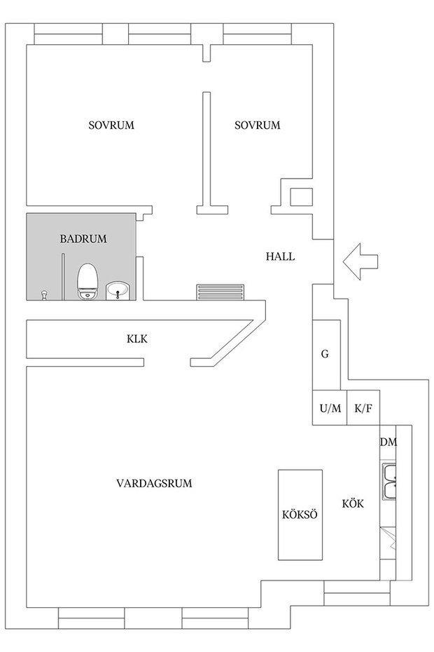 Фотография: Планировки в стиле , Классический, Скандинавский, Современный, Эклектика, Декор интерьера, Квартира, Швеция, Белый, Черный, Стокгольм, как оформить эклектичный интерьер, 3 комнаты, 60-90 метров – фото на InMyRoom.ru