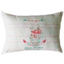 Подушка розовое чаепитие