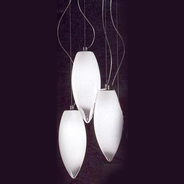 Купить Подвесной светильник Vistosi Baco из стекла белого цвета, inmyroom, Италия