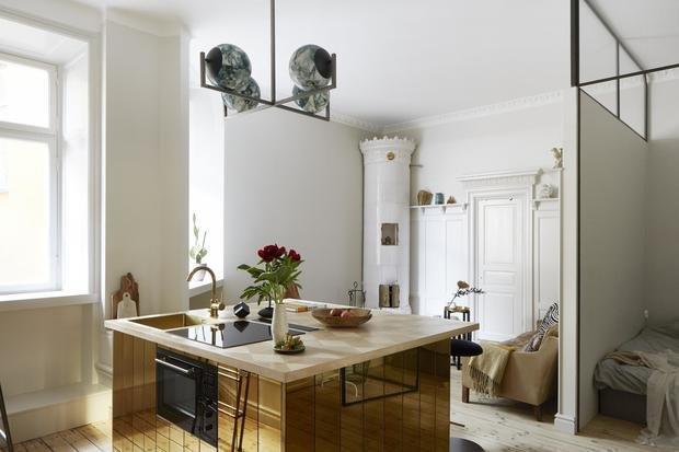 Фотография: Кухня и столовая в стиле Современный, Скандинавский, Декор интерьера, Малогабаритная квартира, Квартира, Студия, Швеция, Стокгольм – фото на InMyRoom.ru