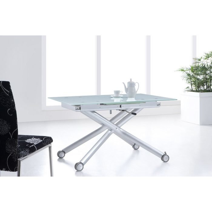 Журнальный стол трансформер со стеклянной столешницей