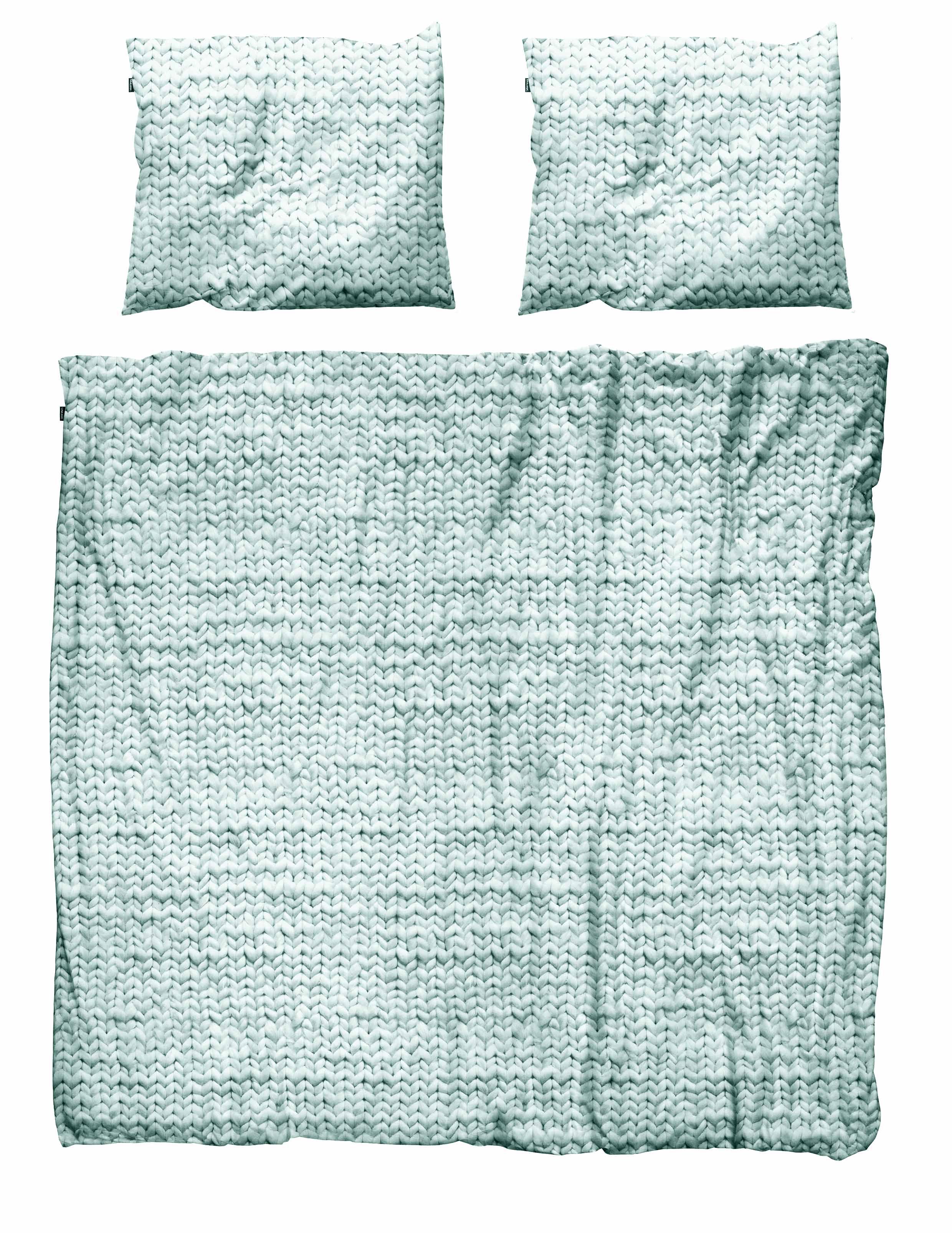 Купить Комплект постельного белья Косичка зеленый 220х200 фланель, inmyroom, Нидерланды