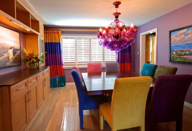 Фотография: Кухня и столовая в стиле Эклектика, Декор интерьера, Текстиль, Шторы – фото на InMyRoom.ru
