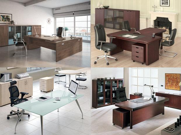 Офисная мебель и искусственные растения.