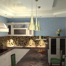 Фото из портфолио В голубых тонах – фотографии дизайна интерьеров на InMyRoom.ru